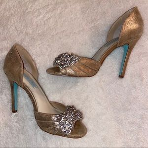 Betsy Johnson Sparkly Stilettos Size 7.5